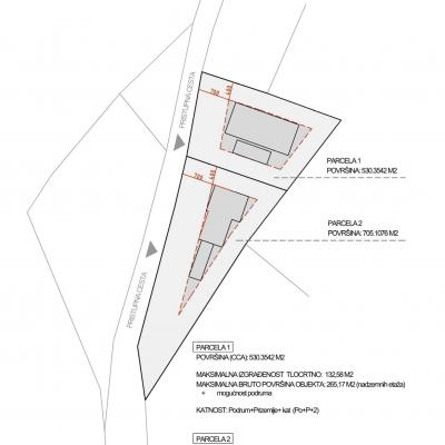 Građevinsko zemljište za izgradnju dviju vila