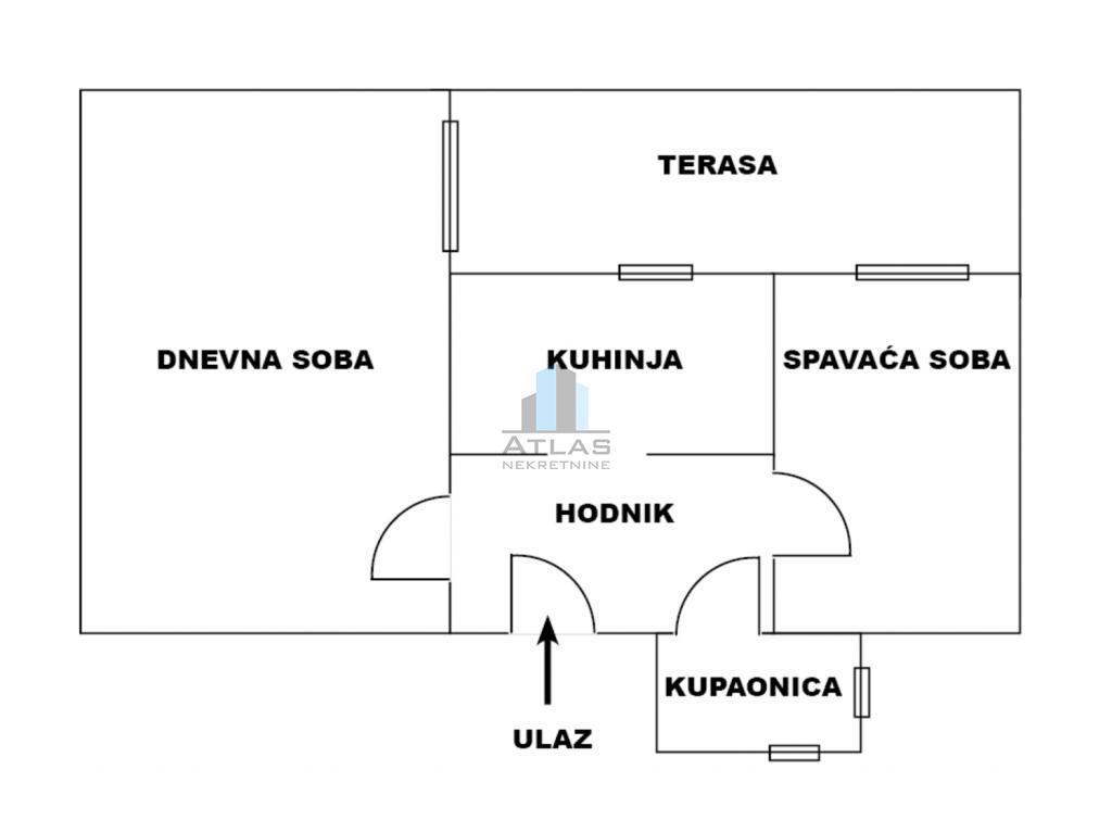 Zagreb, Maksimir, dvosoban stan, 43 m2+12 m2 spremišta, suteren