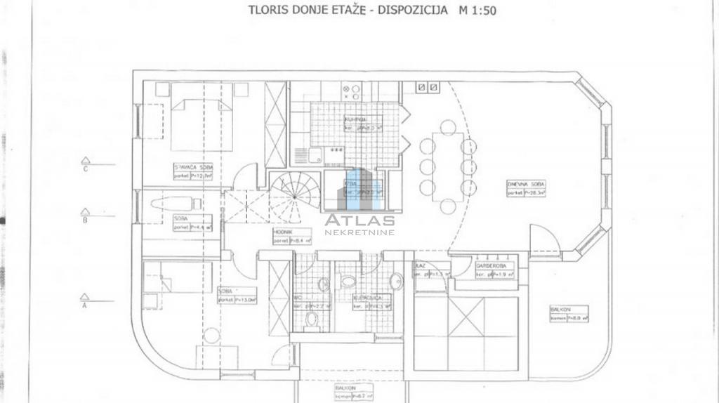 Zagreb, Botinec, dvoetažni peterosoban stan uk pov. 139,20 m2