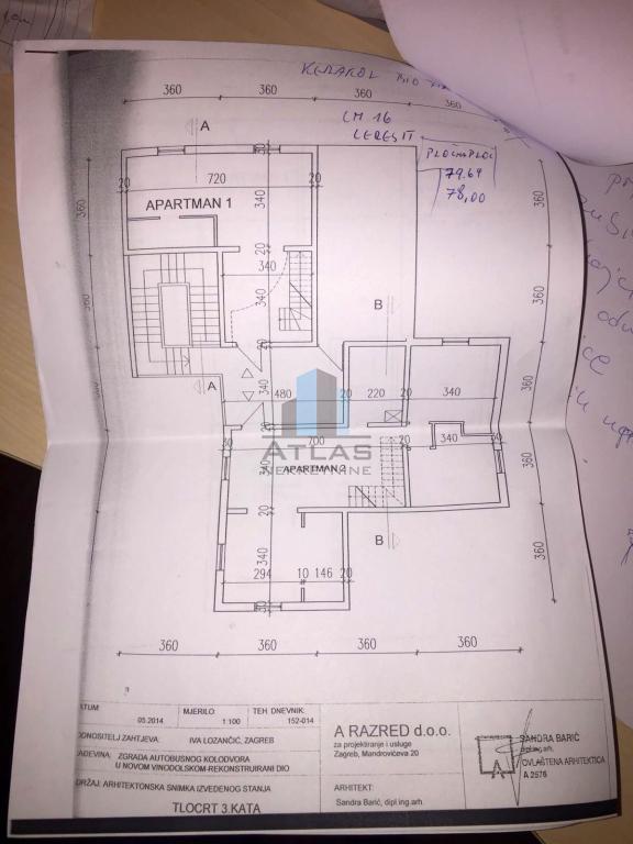 Novi Vinodolski - centar, 2S+DB, namješten