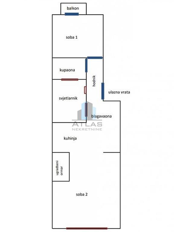 Zagreb, Črnomerec, 47,8 m2, 2. kat, balkon