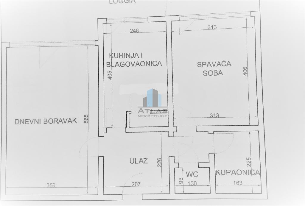 Zagreb, Savica, dvosoban stan površine 62,83 m2