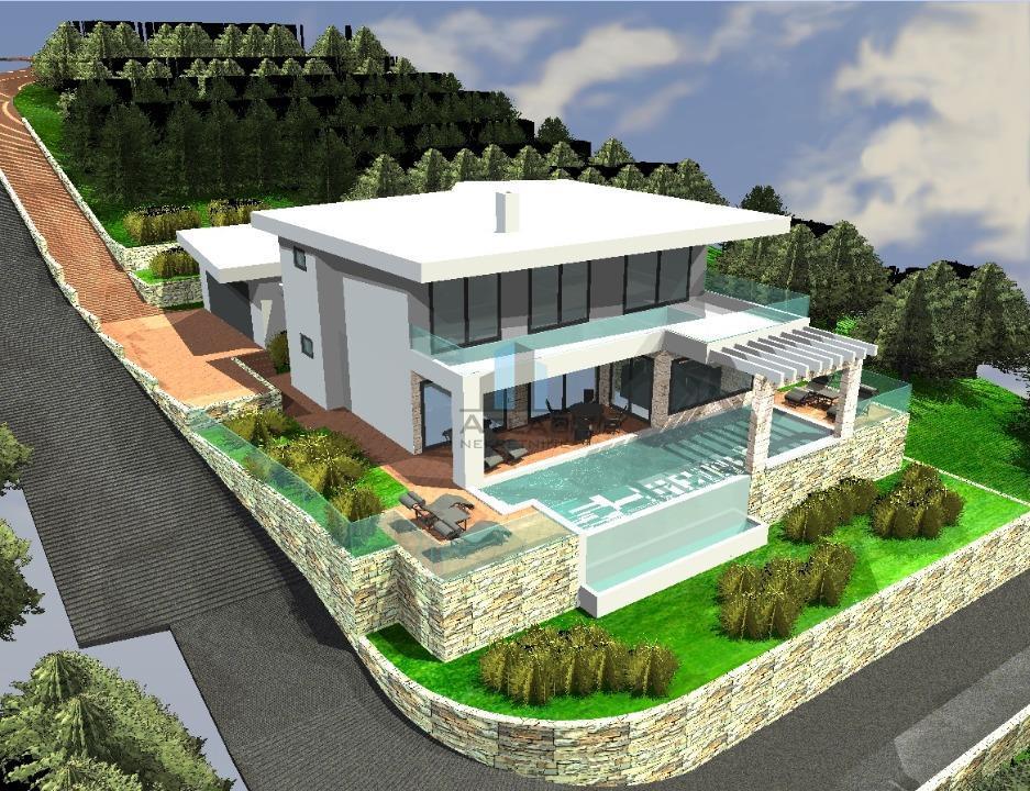 Kostrena, Plešići, građevinsko zemljište s projektom