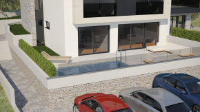 Krk, luksuzni stan s vrtom i bazenom, 2s+db, 64,51 m2