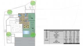 Krk, luksuzni stan s vrtom i bazenom, 2s+db, 69,01 m2