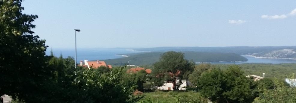 Istra, Labin , Rabac okolina , građevinsko zemljište sa pogledom na more