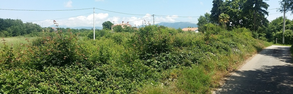 Istra nekretnine, Labin, građevinsko zemljište sa pogledom na grad