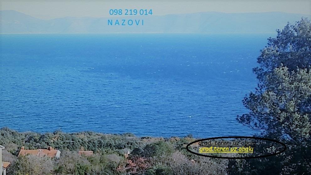 Istra, Labin-Rabac, okolica, građevinsko zemljište u blizini mora s pogledom