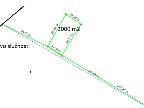 Grundstück Labin, 2.000m2