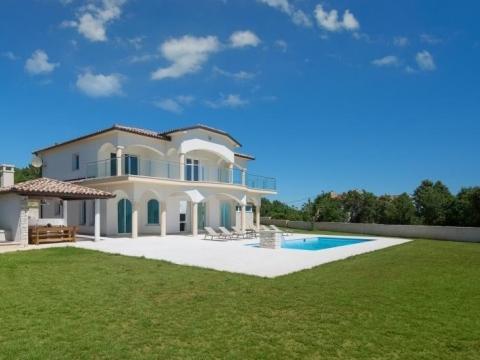 Istra, Labin(Rabac) kuća, vila s bazenom i pogledom na more