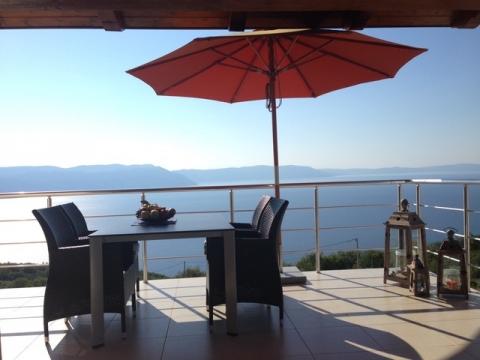 Istra, Labin(Rabac), kuća s bazenom i pogledom na more
