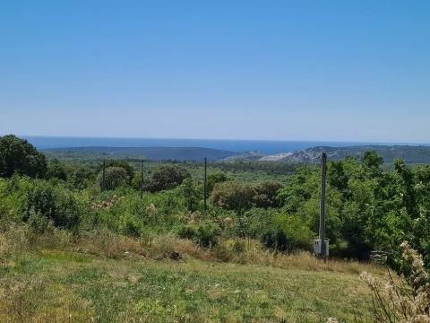 Istra, Labin(Rabac), građevinsko zemljište(1400m2), pogled more(19eur/m2) - prilika