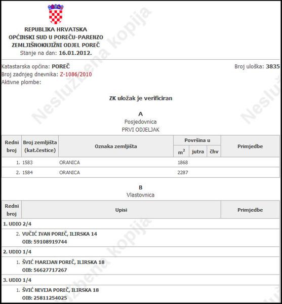 Zemljište u Poreču, 30€/m2